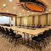 Sala riunione modernamente equipaggiata all'Hotel Bambara di Felsotarkany