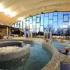 Centro di wellness con piscine e jacuzzi all'Hotel Beke a Hajduszoboszlo