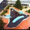Piscina con acqua termale a Hajduszoboszlo all'Hotel Beke