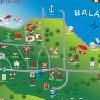 Pianta del Club Aliga a Balatonvilagos - club vacanze sulla riva del lago Balaton