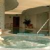 Jacuzzi nel centro wellness dell'albergo Szepia Bio Art a Zsambek