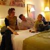Il Wellness Hotel Gyula offre una camera familiare accogliente