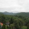 Vista dei monti di Matra dalle finestre delle camere dell'Hotel Narad Park