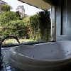 Modern bathroom in Hotel Lanchid 19 in Budapest