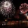 Fuoco artificiale al 20 agosto a Budapest - vista panoramica dal Novotel Budapest Danube