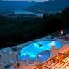 Vista panoramica del Danubio dalla finestra dell'Hotel Silvanus